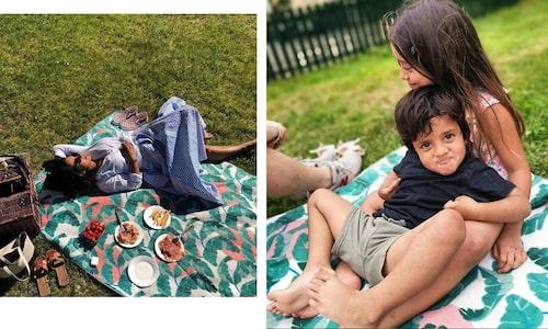 Äntligen sommar! Anitha Clemence och barnen Penny och Tom Allan firar med utflykt.