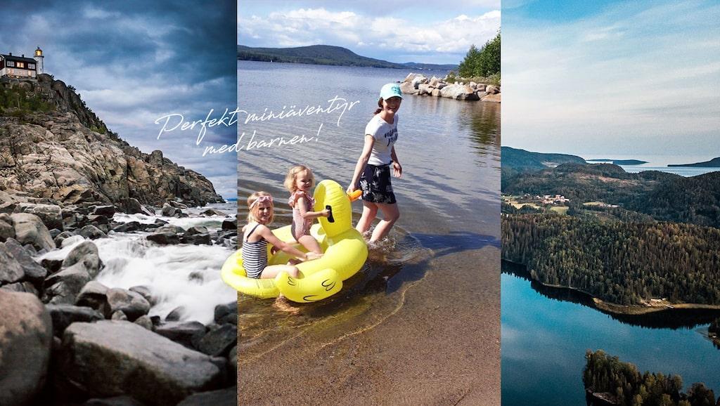 Ta med barnen till Höga kusten och testa massor av aktiviteter! Här är mamas Carin Carlgren med dottern Stella (mitten) och systerdottern Alice.