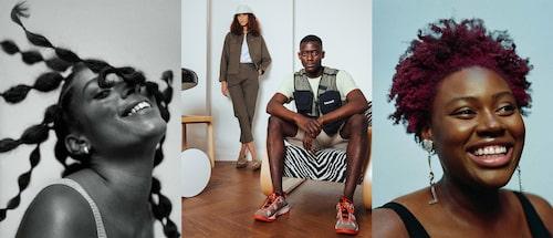 Fiiri Agency-modeller i bland annat en kampanj för Timberland (mitten).