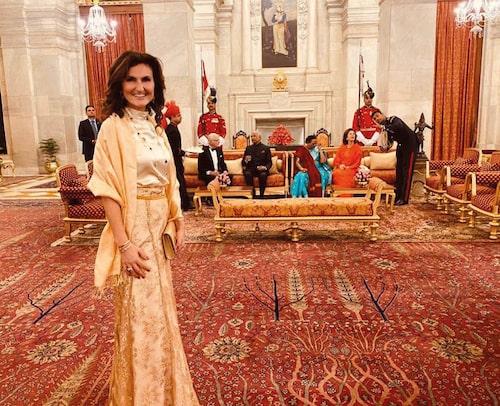 På statsbesök med kungaparet i Indien.