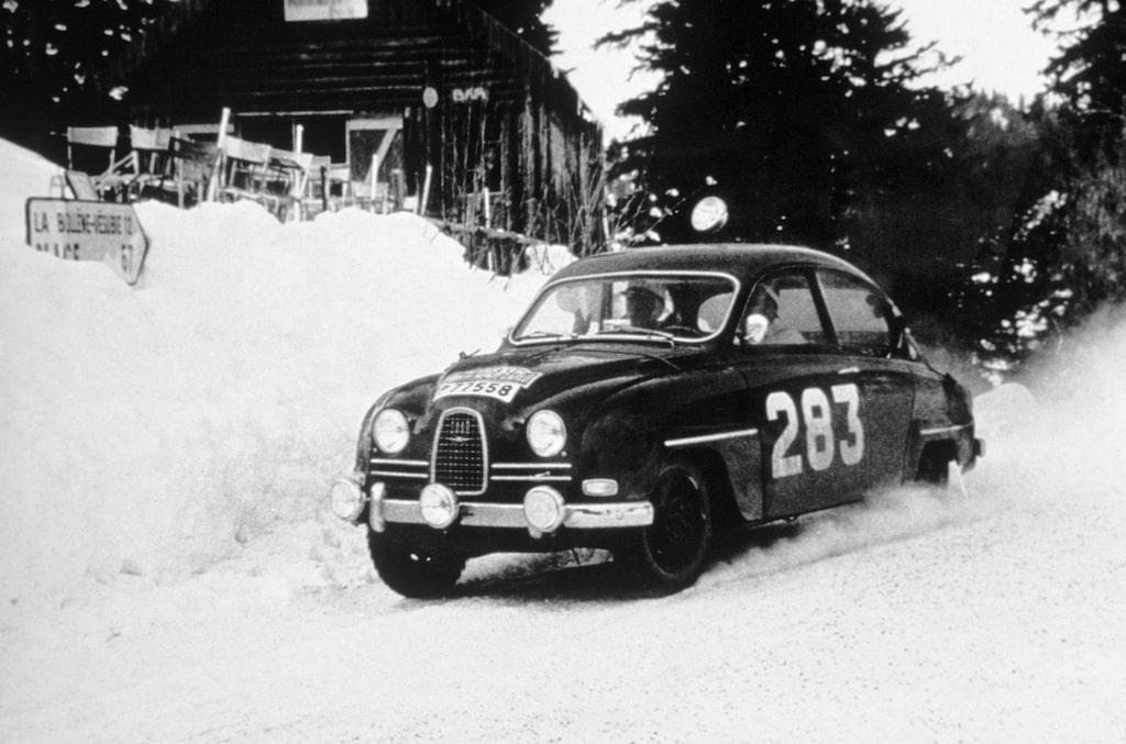"""Erik """"Carlsson på taket"""" Carlsson i Monte Carlo-rallyt 1963. Ett rally som han vann."""