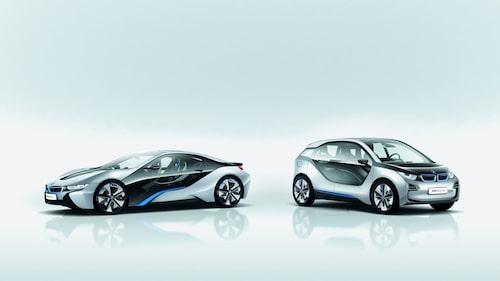 BMW i3 Concept och BMW i8 Concept