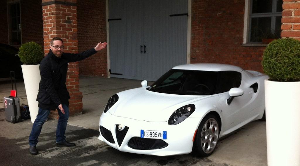 Markus Engström med Alfa Romeo 4C