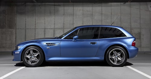 BMW Z3 M Coupé, med 321 hk (325 två sista åren), kostar i dag mycket pengar.