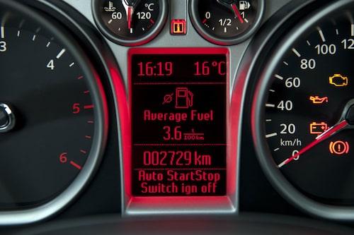 0,36 liter per mil är lågt.