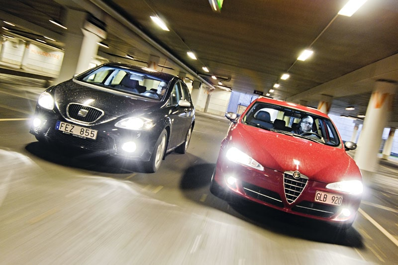 Seat Leon FR TDI och Alfa Romeo 147 Q2.