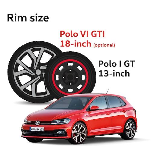 Inte bara bilen utan även hjulen har blivit större.