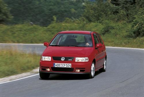 Först 1998 fick Polo tillgång till bokstäverna GTI.