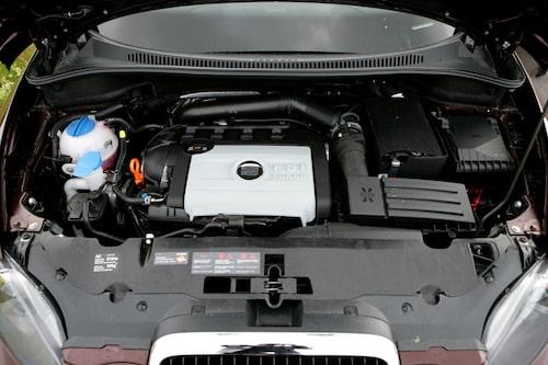 Den nya motorn med 160 hästkrafter räcker till även om prestandan inte imponerar.