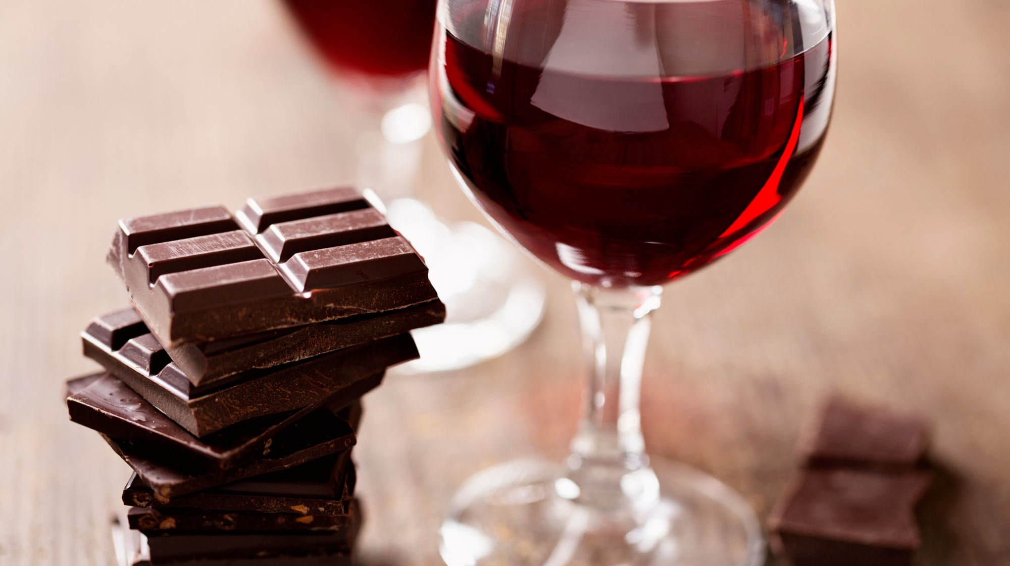 rött vin till choklad