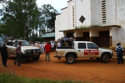Sekunderna efter ankomst till sjukhuset.