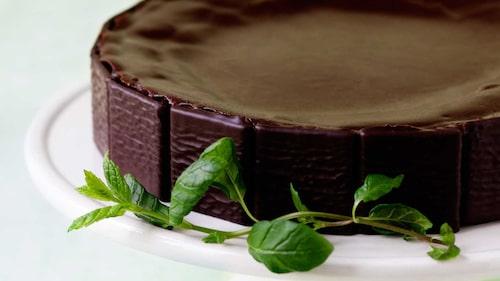 Chokladtårta  med mild mintsmak