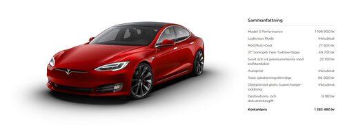 """Här är """"vår"""" Tesla Model S Performance. Klicka på bilden för att se den i större format."""
