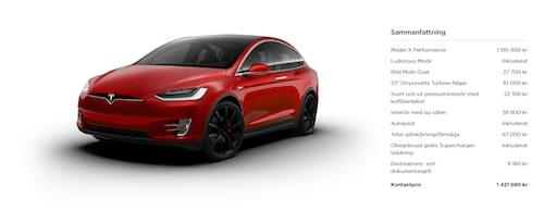 """Och här är """"vår"""" Tesla Model X Performance. Klicka på bilden för att se den i större format."""