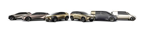 Toyotas kommande elbils-palett.