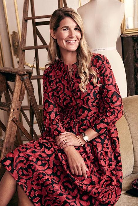 Maria Westerlind i egen design.