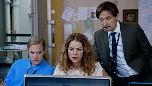 Marie och Jesper tillsammans med Moa Lundqvist i humor-succén Dips
