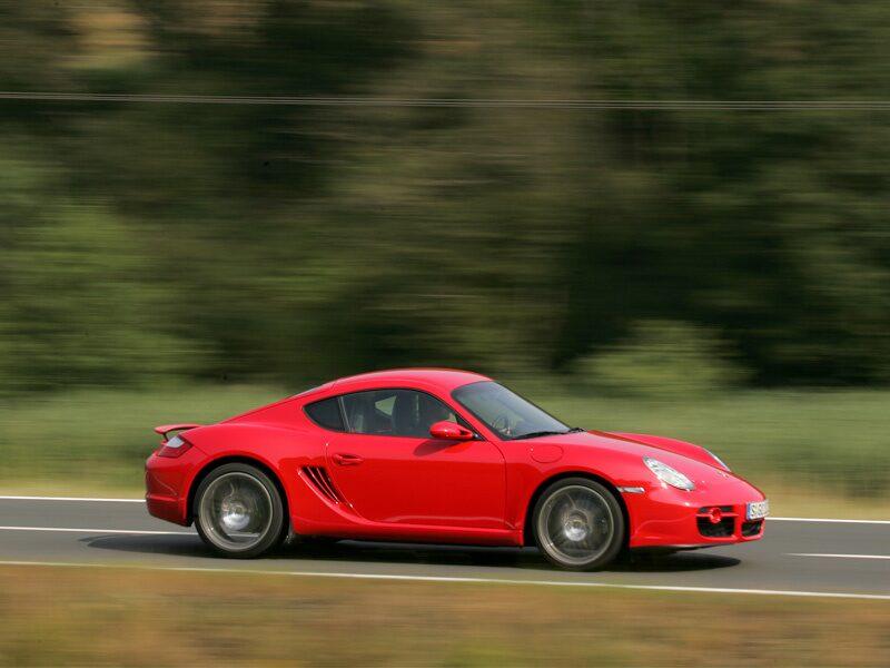 Provkörning av Porsche Cayman