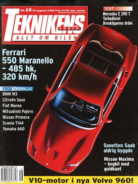 Teknikens Värld nummer 16 / 1996