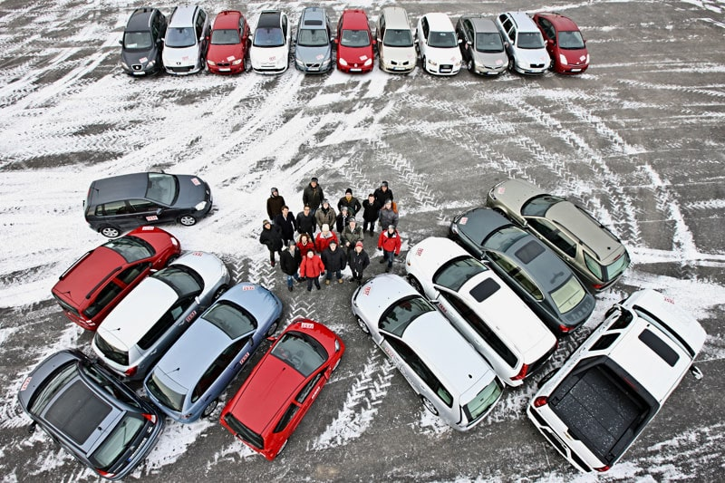 Stort miljöbilstest med hela 26 deltagande bilar.