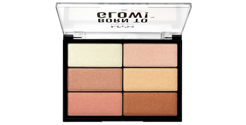Recension på Born to glow highlighting palette från Nyx professional makeup.