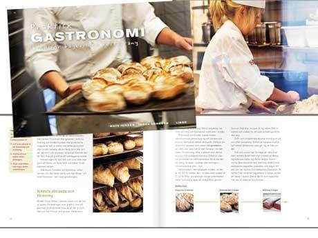 <p>Det nya l&auml;romedlet &auml;r &auml;ven t&auml;nkt att kunna anv&auml;ndas av etablerade bagare och privatpersoner. Det kommer i en serie som heter Praktiskt gastronomi, d&auml;r &auml;ven servering har f&aring;tt en egen bok.</p>