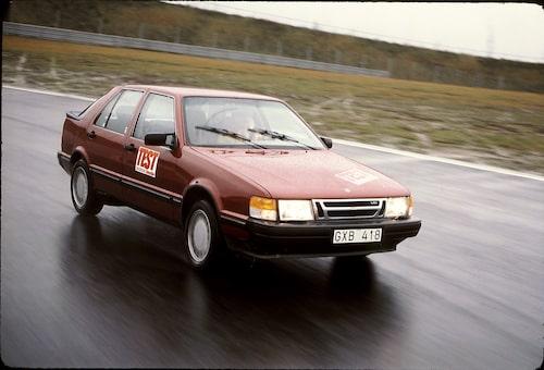 Test av Saab 9000 Turbo.
