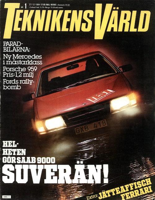 Teknikens Värld nummer 1/1985: Helhetsintrycket som 9000 gav oss var suveränt.