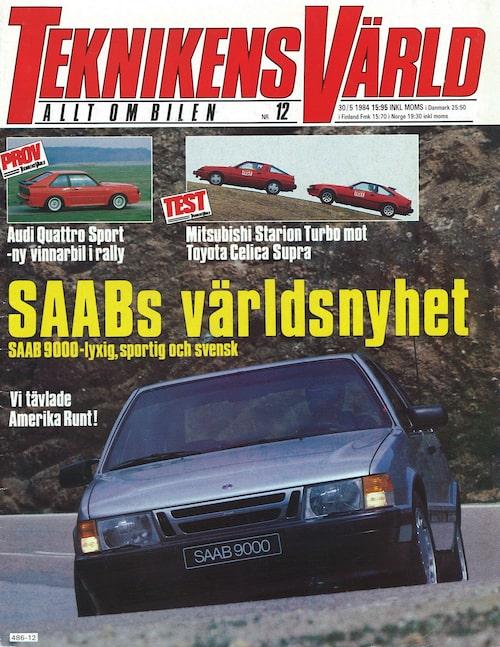 Teknikens Värld nummer 12/1984: Första titten på Saabs nya modell 9000.