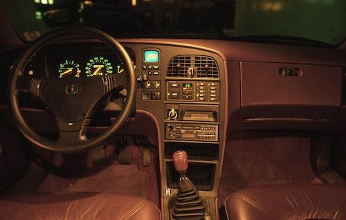 Interiören i Saab 9000 var omtyckt på sin tid. Här en bild från en 9000 CD.