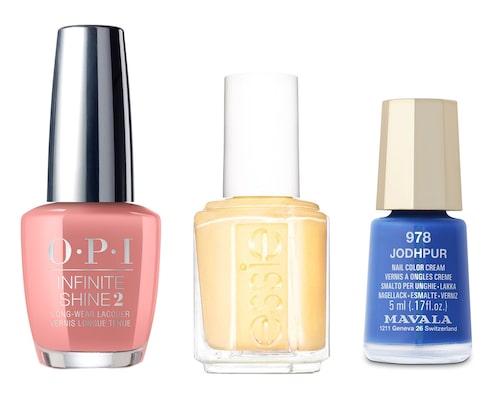 Ordna nagelsalong med barnen på mors dag, men dessa somriga nagellack från O.P.I, Essie och Mavala.