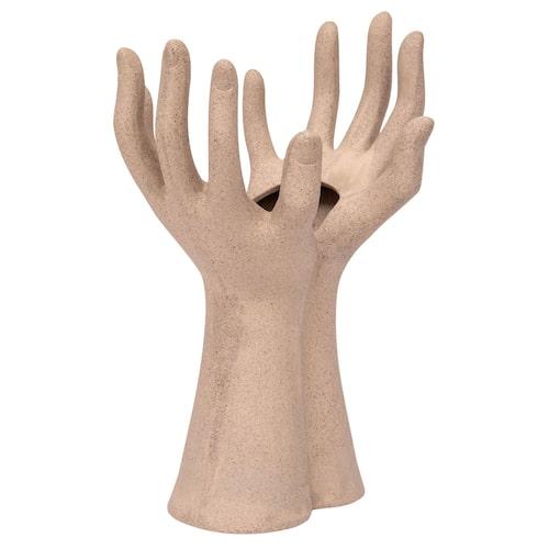 Vas formad som två händer från Lagerhaus blir rolig till mors dag-buketten.