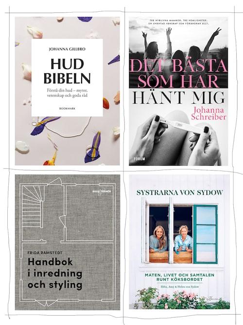 """""""Tidningar och böcker är den ultimata lyxen när man för en gångs skull får en lugn stund vid frukostbordet eller egentid i soffan. Dessa böcker är jag sugen på att läsa nu!"""""""