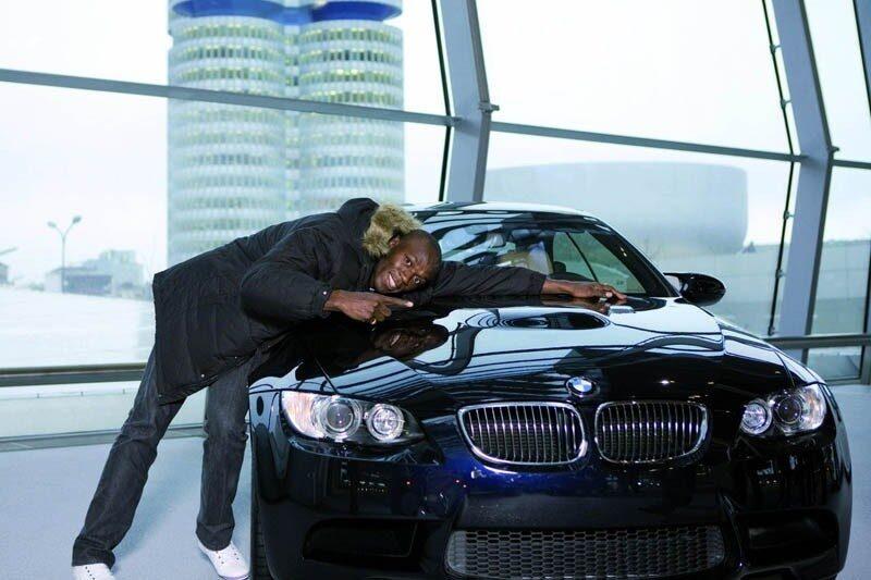 Så här glad var Bolt när han valde ut sin M3 Coupé.