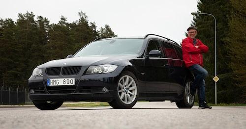 BMW 3-serie anses vara en snabb och rolig bil med gott anseende bland bilintresserade. Det spiller över på ägaren anser Ruben.