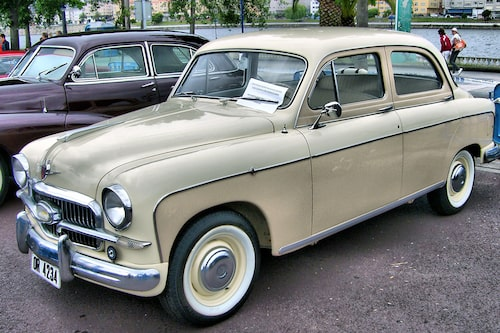 Seat 1400 B som 1957 efterträdde 1400 A.