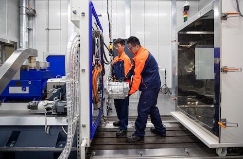 Volvos nya elmotorlaboratorium i Shanghai påbörjade sin verksamhet i oktober.