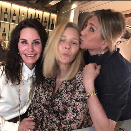 Äkta vänskap: Courtney Cox, Lisa Kudrow och Jen.