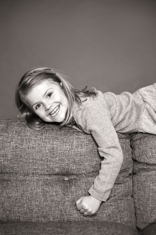 En femårig busig prinsessa.