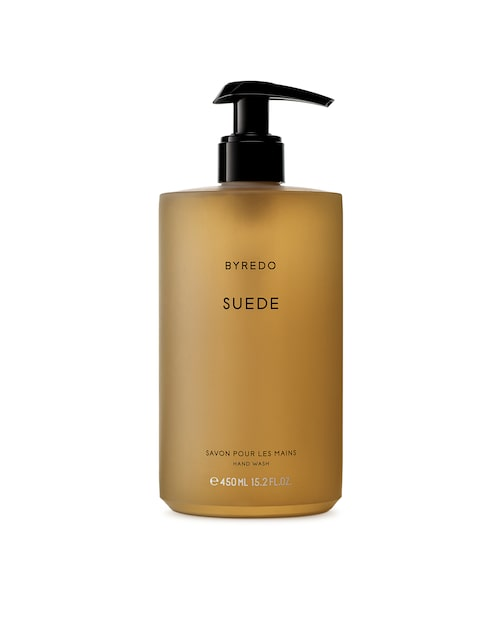 "Handtvål ""Suede""450 ml, 400 kr, Byredo."