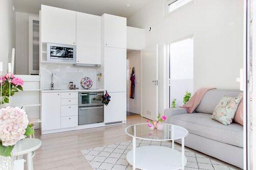 Anna och Henrik fick välja stil, färg och material på allt- ifrån kök till golv och väggar.