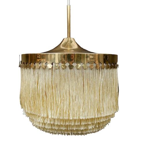 Hans Agne Jakobssons franslampa tillverkad i Markaryd såldes för 7600kr på Garpenhus auktioner