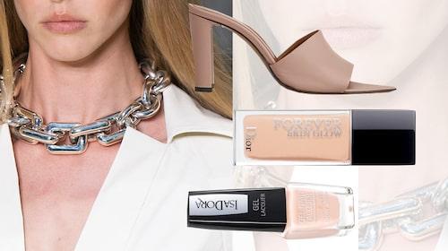 Sandaletter från Atp Atelier, foundation från Dior, nagellack från Isadora.