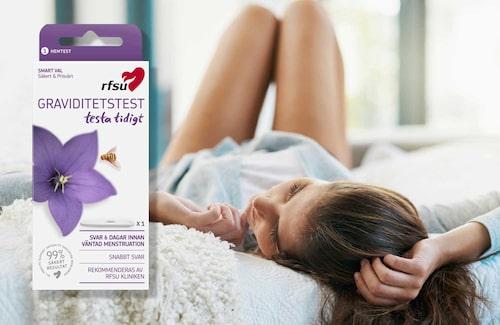 Med RFSU:s graviditetstest ser man tidigt om man är gravid.