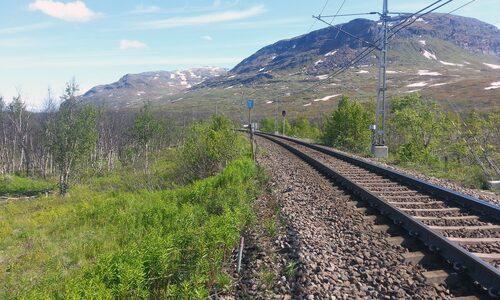 En järnväg någonstans i Norrland.