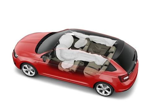Rapid Spaceback har fem stjärnor i Euro NCAP  och airbags på förar- och passagerarsidan. Dessutom sidoairbags fram och huvudkrockgardiner.