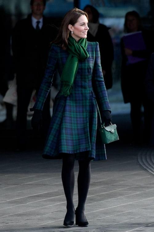 Kate Middleton valde mönstrat av Alexander McQueen.