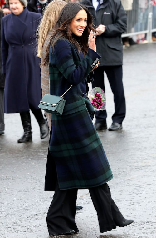 Meghan Markle på besök i Edinburgh i februari 2018.