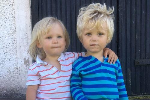 Alva och Nils har just fyllt två år. Foto: Privat