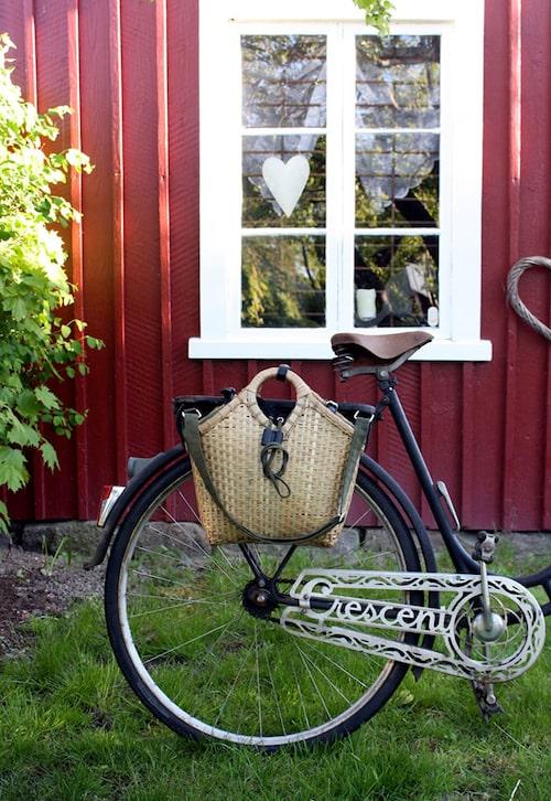 Använd samma väska som cykelkorg. Finns att välja mellan grön och svart.